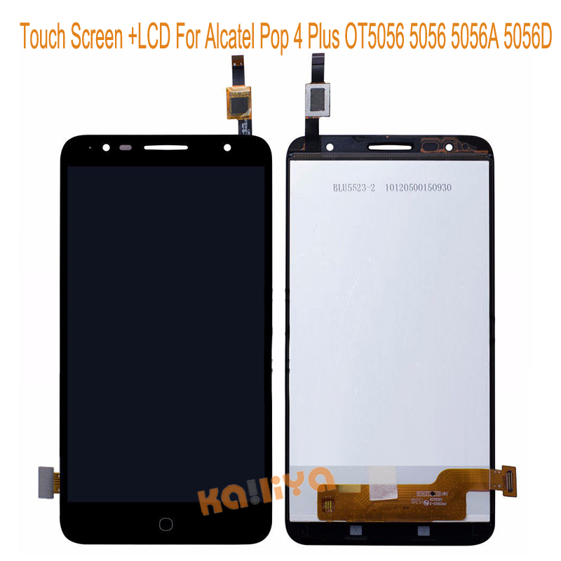 For Alcatel Pop 4 Plus OT5056 5056 5056A 5056D LCD Display + Black 5.5 Touch Screen Digitizer Assembly Replacements  New alcatel ot 4035d pop d3 dual black fashion blue