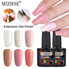 MIZHSE 10 ml Extension Gel Clear Roze Naakt Nail Tips Set Kits UV Builder Gel Nail Art Poly Gel Jelly acryl Nagel Lak(China)