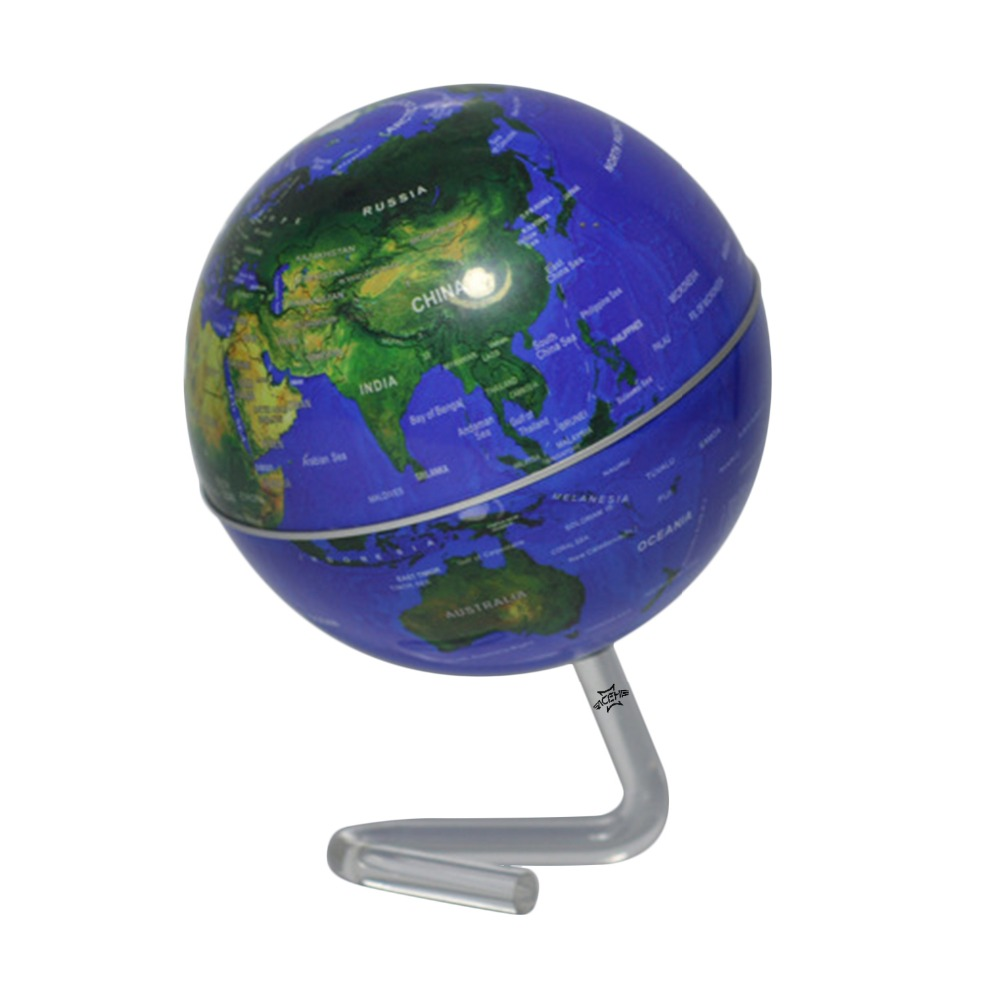ACEHE 4 Inch Self-Rotating Geography World Globe World Map Ornaments For Home Office Decor Craft Gift for Friend Children 1pc 32cm world globe map ornaments with swivel stand home office office shop desk decor world map geography educational tool