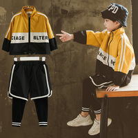 Spring Korean 2019 New Boys Clothes Fashion Baby Jackets Pants 2pcs Sets Children Boy Handsome Sportswear Kids Outfit 14 Years