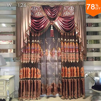 Nice new Egypt Luxury magnetic curtain for living room brown golden embroidery door hotel crystal bead curtains ancient times