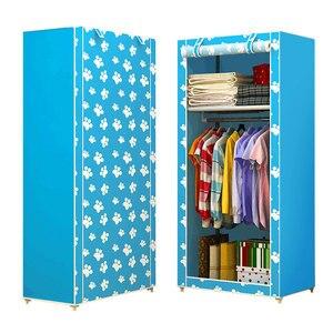 Image 2 - Actionclub นักเรียนผ้าตู้เสื้อผ้าชุด DIY ASSEMBLY ตู้เสื้อผ้าพับเดี่ยวตู้เก็บฝุ่นขนาดเล็ก Closet