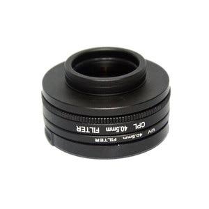 Image 2 - SJCAM Accessories 40.5mm CPL Filter + UV + 40.5mm Lens Cap + Adapter Ring for SJ8 Pro Air Plus Action Camera Lens Protector