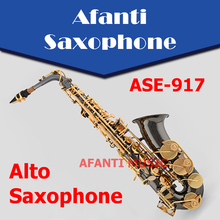 Afanti Music Eb tone /Black Nickel Gold /Nickel Alloy Cooper Alto Saxophone (ASE-917)