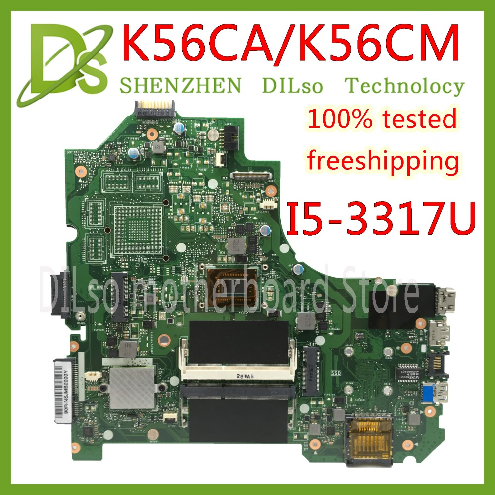 Здесь можно купить  KEFU K56CA For ASUS S550CA K56CM K56CA Laptop Motherboard  I5-3317U CPU GM K56CA motherboard with  original Test    Компьютер & сеть