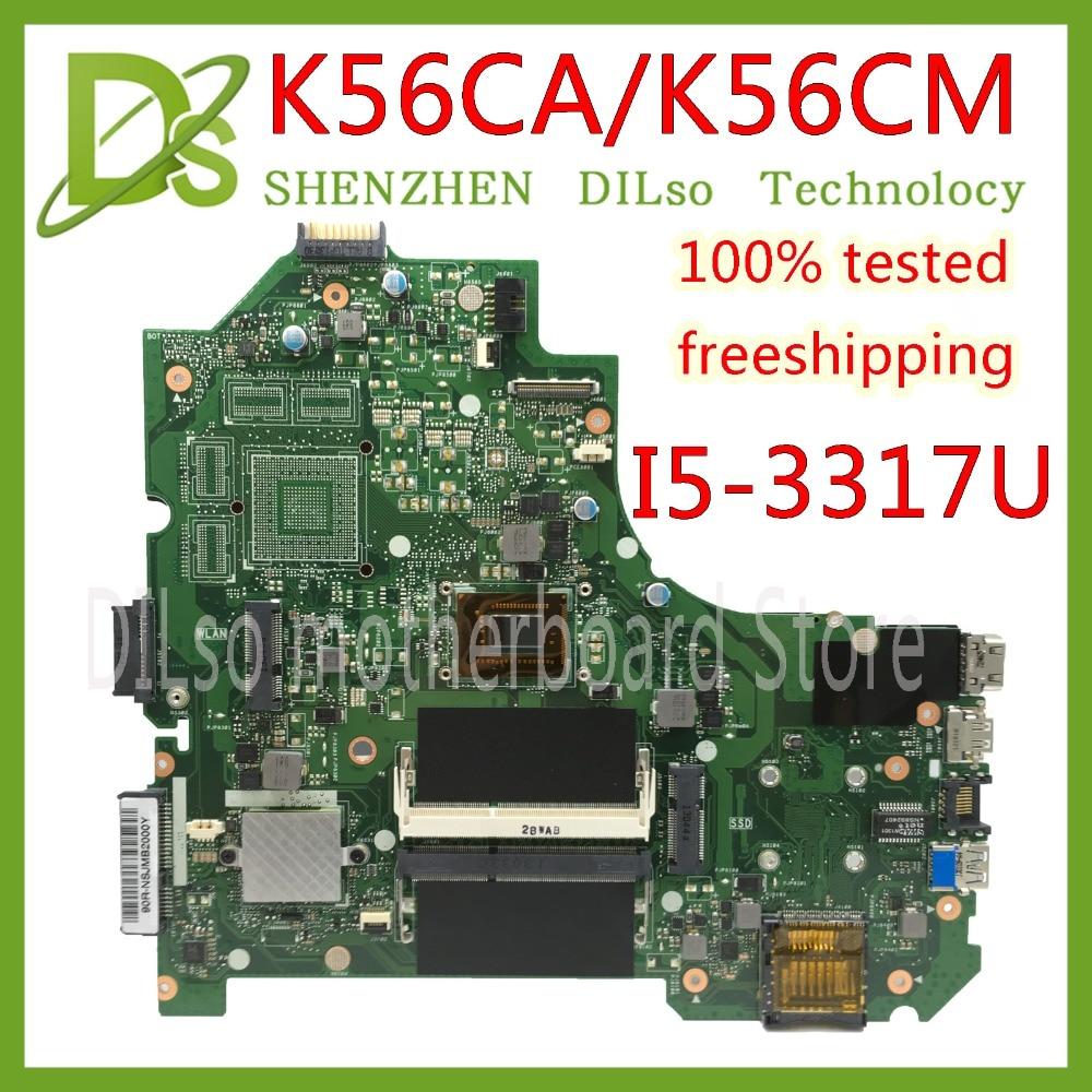 KEFU K56CA For ASUS S550CA K56CM K56CA Laptop Motherboard  I5-3317U CPU GM K56CA Motherboard With  Original Test