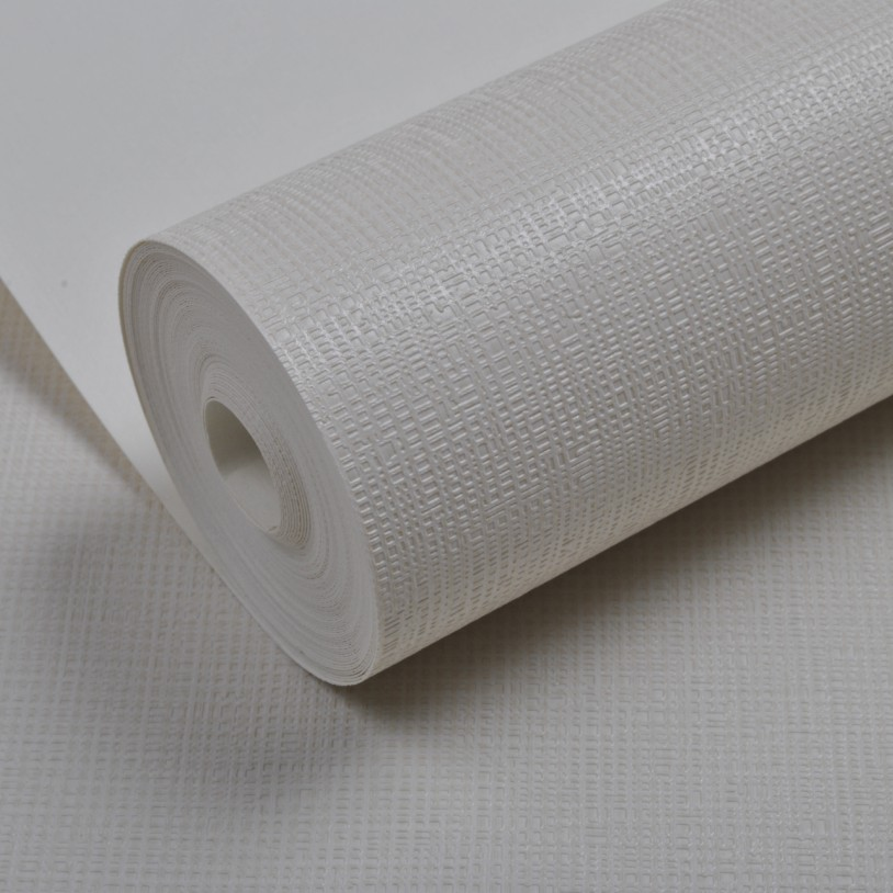 White beige textured pvc vinyl wallpaper roll modern wall for Solid vinyl wallcovering