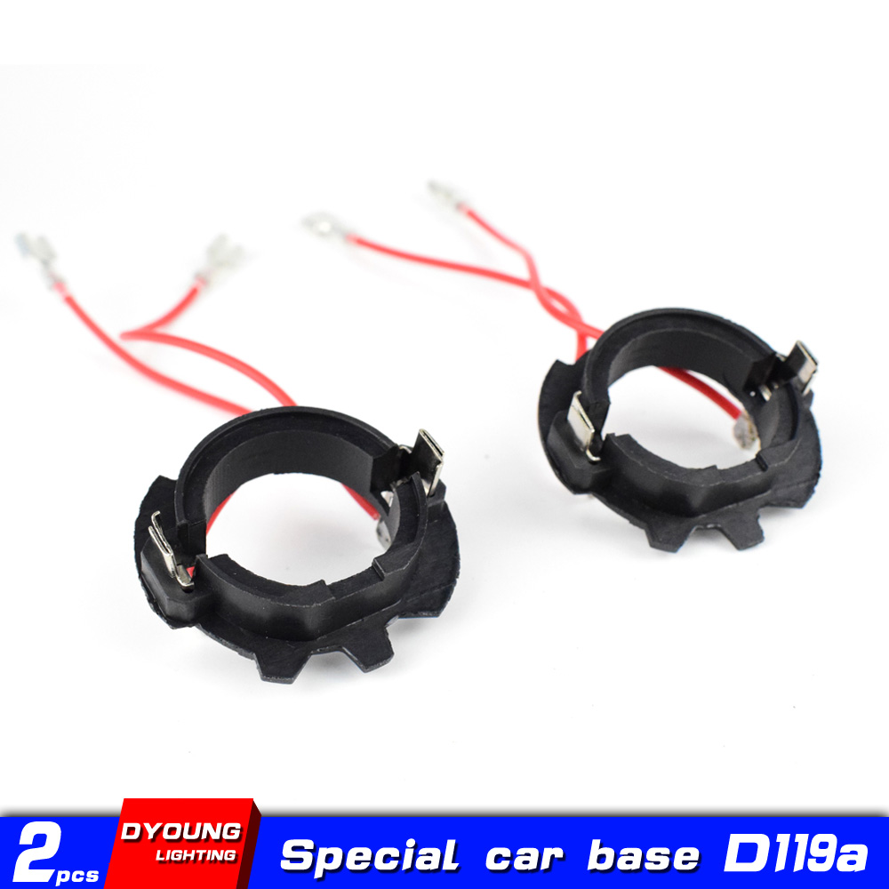 Dyoung 2pcs D119a H7 Base Car Accessories H7 Led ABS Adapter Auto LED H7 Base Holder For For Volkswagen Golf MK5 J Etta GOLF 5
