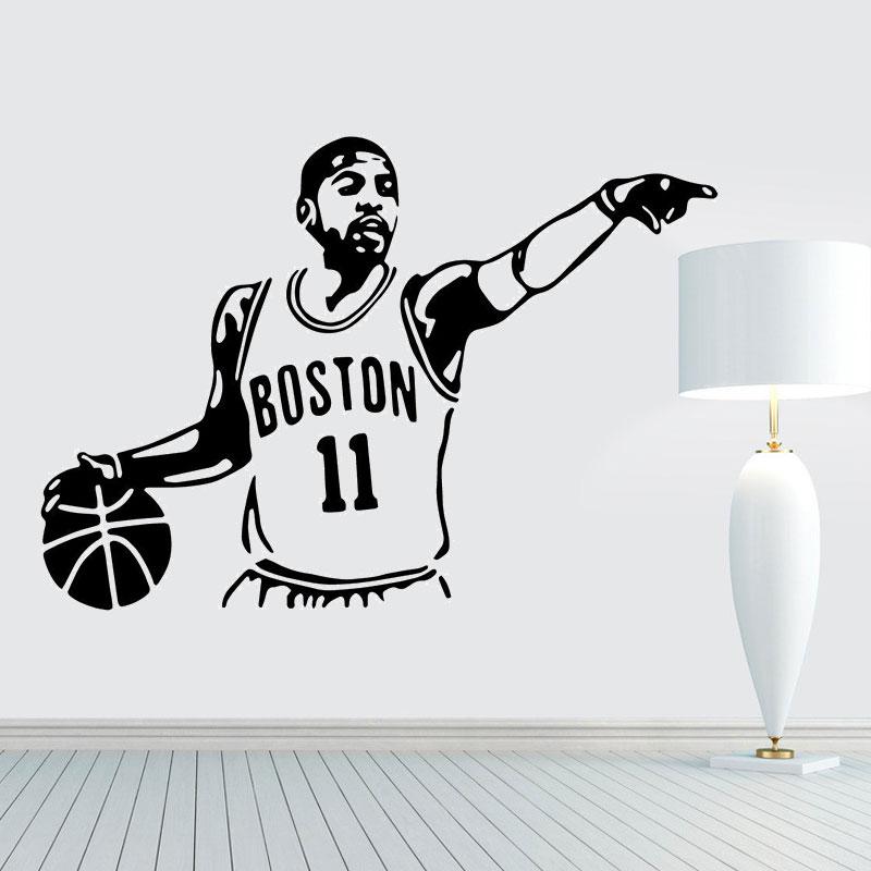 Basketball superstar Kyrie Owen, vinyl detachable wall decal, gym decoration, home boy room decoration  LQ26