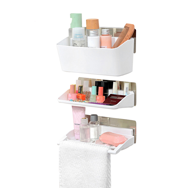 Wall-Mounted Organizer Rack For Soap Cosmetics Organization Accessories Supplies 3 Layer Bathroom Storage Holder  sc 1 st  AliExpress.com & Wall Mounted Organizer Rack For Soap Cosmetics Organization ...