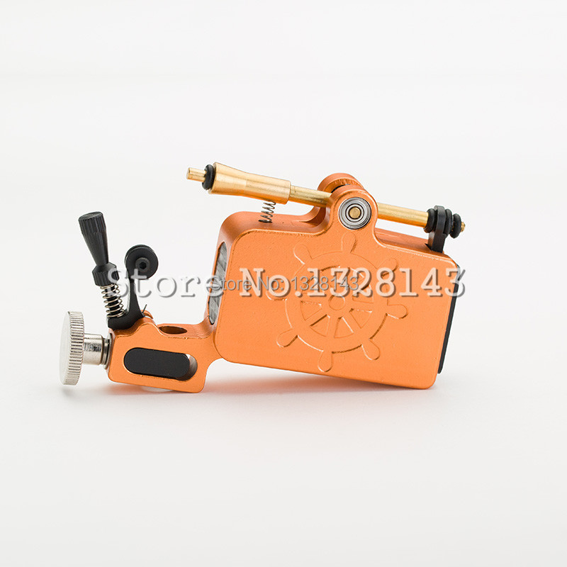 Newest Tattoo Gun Aluminium Captain Rotary Machine Liner Shader TATy High Quality Orange for tattoo kit Free Shipping 4 pcs liner shader tattoo rotary motor gun machine kit set swashdrive