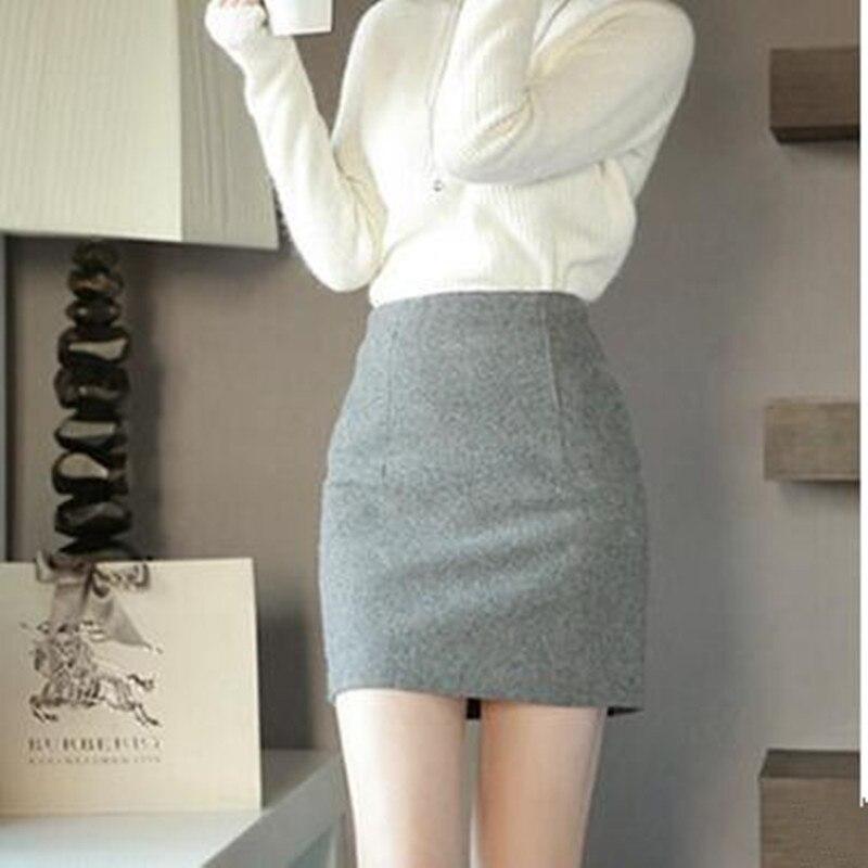 Шерстяные юбки короткие