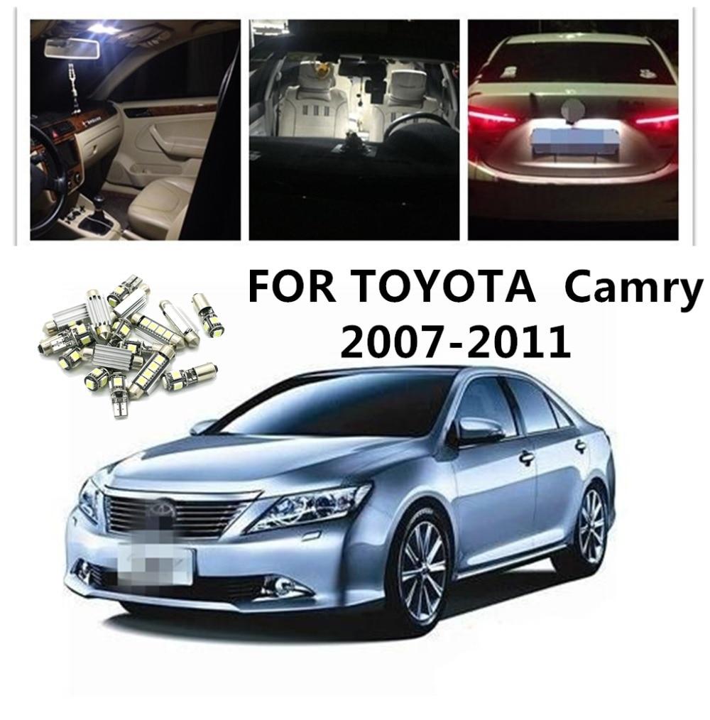 360 Lahl 7 шт. белый автомобиль Светодиодный лампочки интерьер посылка комплект для TOYOTA CAMRY 2007 2008 2009 2010 2011 карта плафон