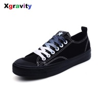 Xgravity Hot Unique Design Autumn Shoes Street Canvas Shoes 2018 Spring Lady Fashion Casual Shoes Stars