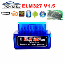 High Quality PIC18F25K80 Super MINI V1.5 Bluetooth ELM327 OBD Code Reader Diagnostic Scanner ELM 327 1.5 Hardware Multi Language