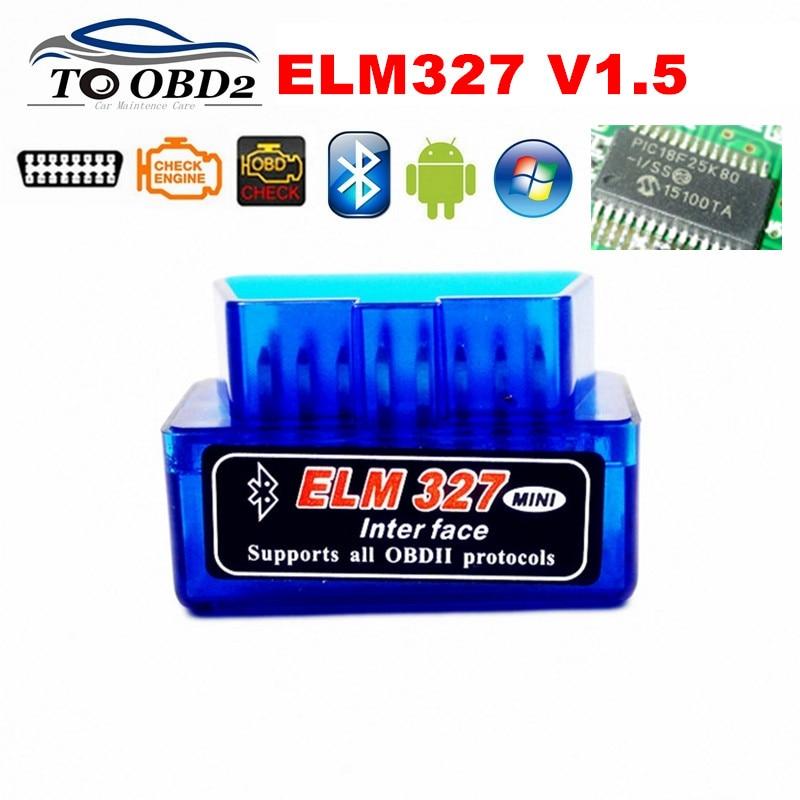 Считыватель кодов PIC18F25K80 Super MINI V1.5 Bluetooth ELM327 OBD диагностический сканер ELM 327 1,5 аппаратное обеспечение Многоязычный