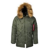 Winter N3B puffer jacket men long canada coat military fur hood warm trench camouflage tactical bomber army parka men US size