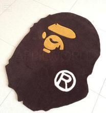 Moda a bathing ape bape felpudo felpudo floor mat rug carpet mono decoración del hogar