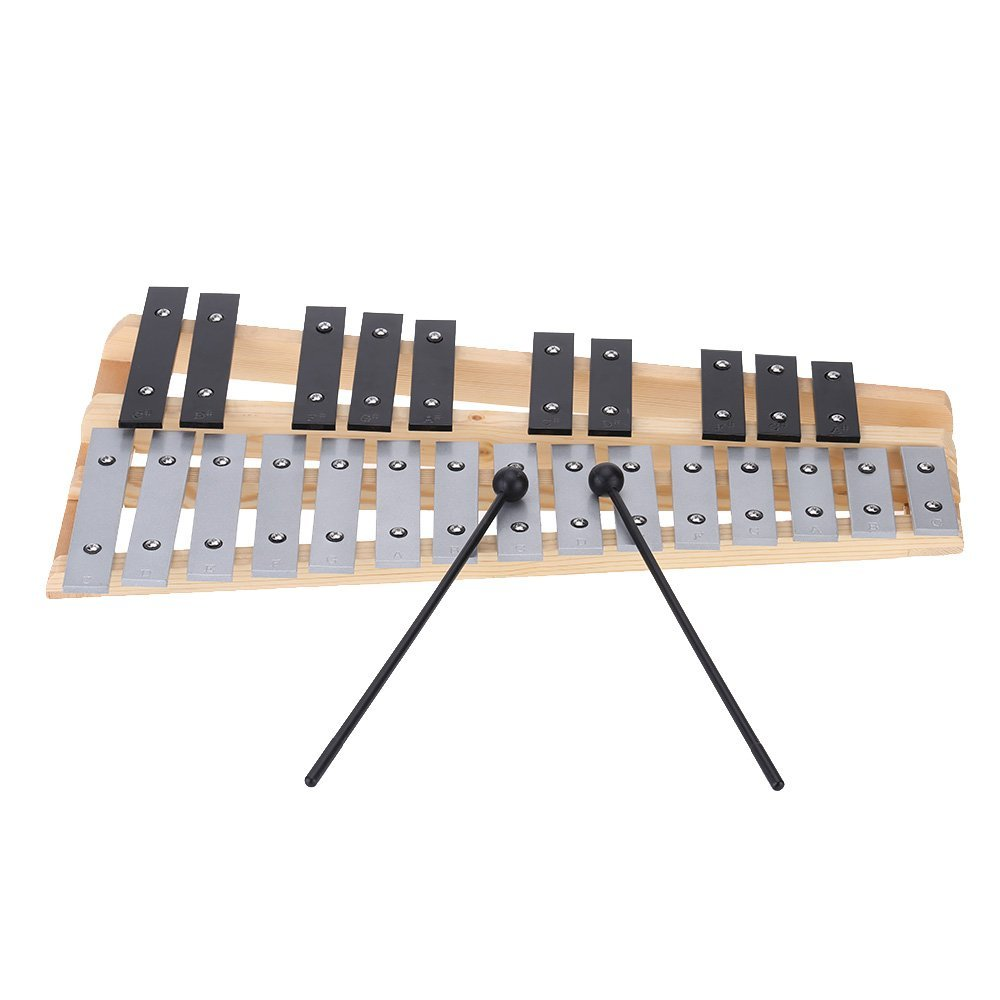 25 Note Glockenspiel Xylophone Educational Musical Instrument Percussion Gift with Carrying Bag free shipping b dmk7 professional percussion drums guitar brass 7 piece drumkit instrument microphone with carrying case