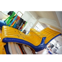 6m inflatable pool floats flying toward boat inflatable swing trampoline inflatable seasaw water park