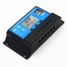 10A 20A 30A 40A 50A 60A 12V 24V intelligence Solar cells Panel Battery Charge Controller Regulators LCD Display LI-ion