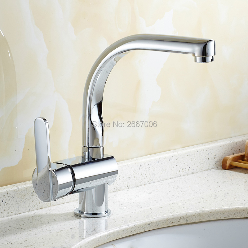 Free Shipping Discount Kitchen Sink Tap New Brass Faucet Bathroom Deck Mount Faucet Chrome Finish Water Taps Sanitary ware ZR610 nieneng big discount basin washroom mixer bathroom faucet tap mixers wc sanitary ware water toilet taps polished chrome icd60157