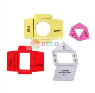 1set Wooden Envelope Template Manual Stencil Could Make 4 Different Size Model Envenlops ,wholesale(ss-5930)
