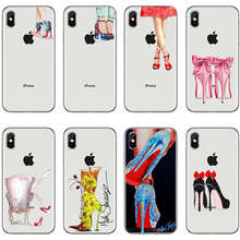 Gorgeous High Heel Shoes Silicon Phone Cases Cover For iphone 8 8Plus X  7Plus 6 6SPlus 8c024cbc88ce