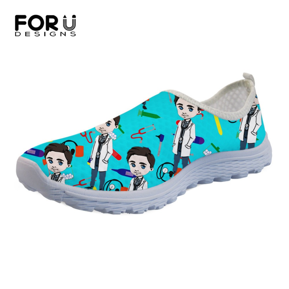 FORUDESIGNS Slip-On Shoes Summer Flats Sneakers Light Mesh Beach-Loafers Profession-Pattern