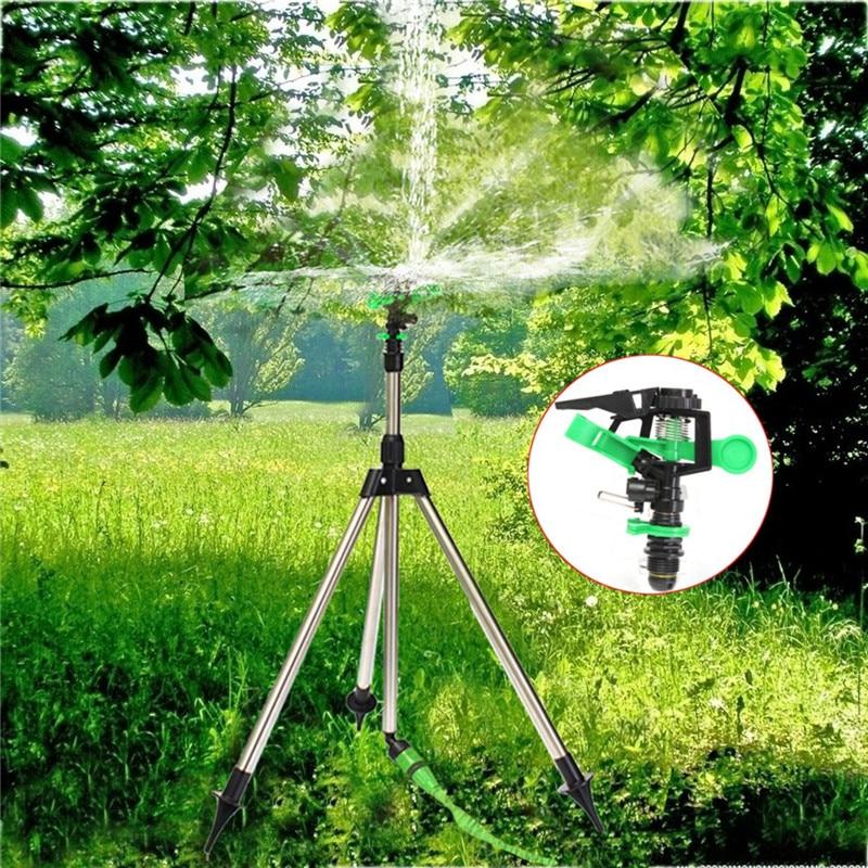 1Pc Edelstahl Stativ Impuls Sprinkler Pulsierende Gras Rasen Bewässerung Bewässerung Kits Für Garten Bewässerung Werkzeug