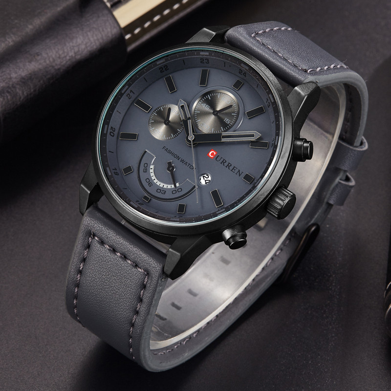 Men Military Watches CURREN Luxury Brand Men's Fashion Leather Sport Clock Male Casual Date Quartz Wrist Watch Relogio Masculino curren men s fashion and casual simple quartz sport wrist watch