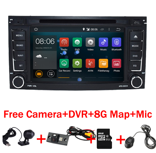 imágenes para 2017 Android 7.1 Coches Reproductor de DVD para VW Touareg Multivan Con Wifi 3G GPS Bluetooth de Radio RDS USB Control Del Volante Canbus