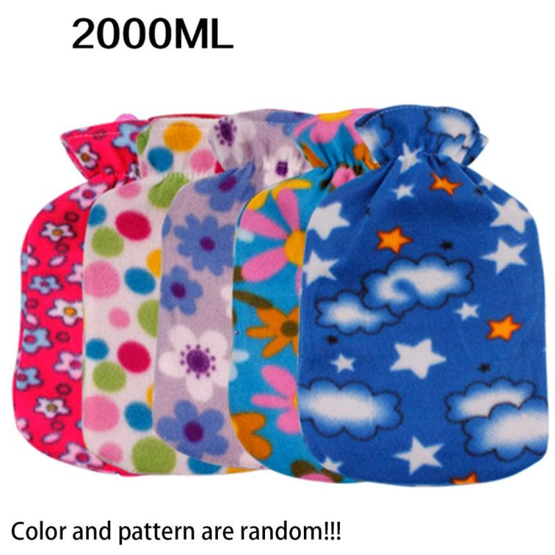 Hot water bag cover Hand Feet Warming Knit warm hot water bottle covers not including water filling tank random color L50 warm water bag hot water bottle warm hand po warm bao water filling small mini cute thick pvc explosion proof