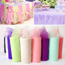 DIY tool Tissue Tulle Roll Spool Craft Wedding Party Decoration Organza Gauze Element Table Runner F2-18L