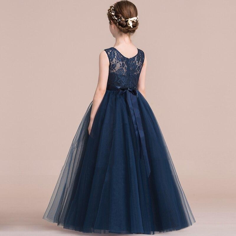 c7e8ba857 Nuevos vestidos de primera comunión para niñas vestido de niña de las  flores 6-14 años adolescentes niños vestidos de baile de boda fiesta de la  ropa de los ...