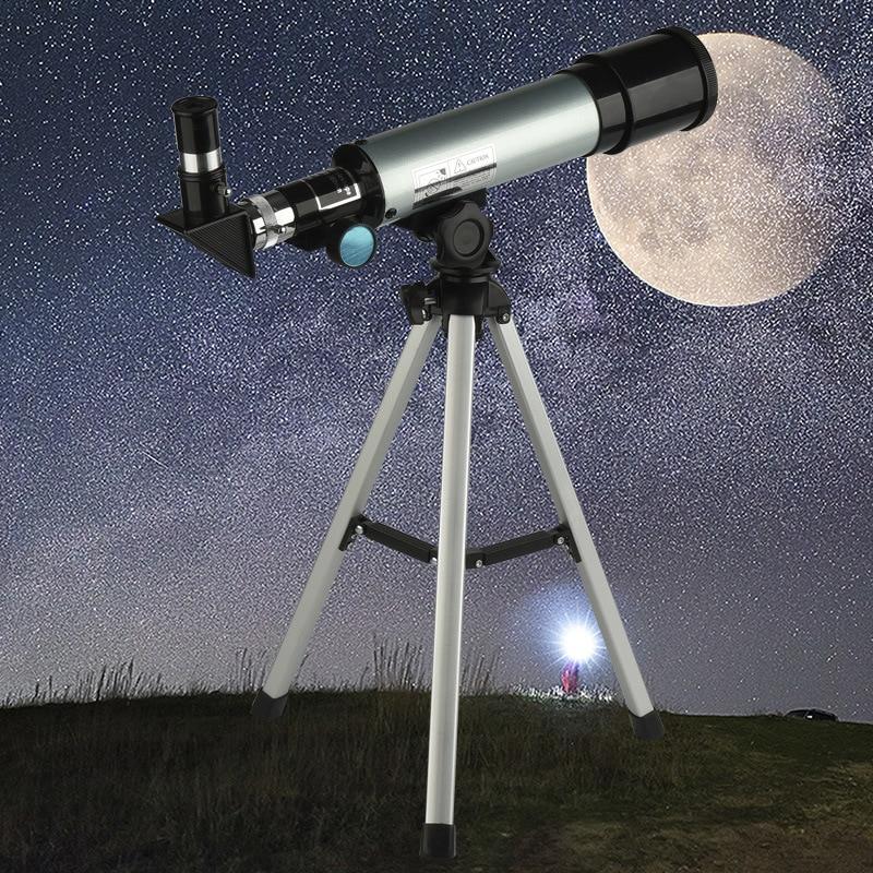 Télescope astronomique monoculaire professionnel HD pour l'observation en plein air avec trépied réfracteur Spyglass Zoom