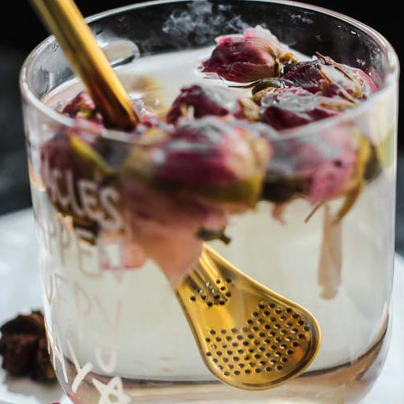 Экологичная ложка из нержавеющей стали соломинки Чайный фильтр шейкер кофе фильтр Ложки Посуда HYD88