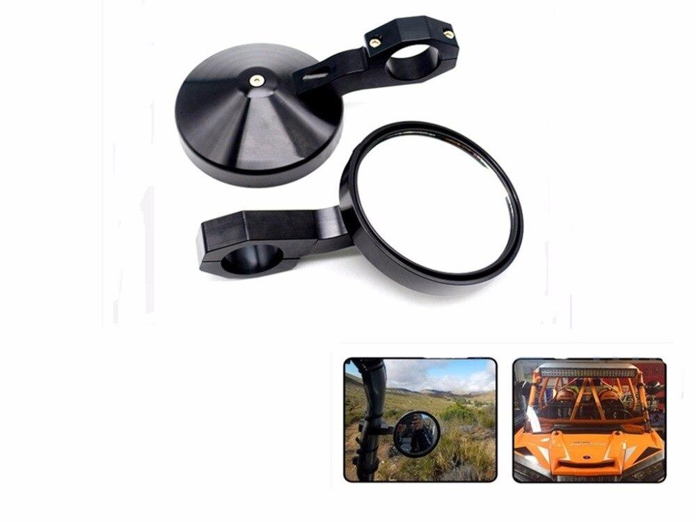 For Polaris Adjustable UTV Heavy Duty Round Sport Rear Mirror 1.75/'/' RZR 900