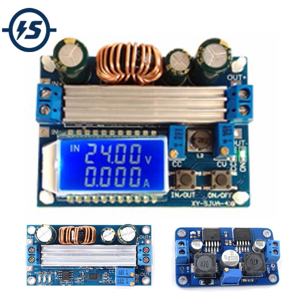 Mini AIO DC-DC Step Down Module 4.5-24V Integrated Adjustable /& Fixed Voltage Mu