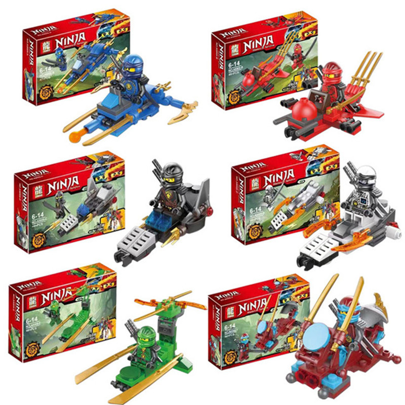 Compatible LegoeINGly NinjagoINGlys Figures With Weapon Ninja Kai Cole Jay Zane Lloyd Nya Building Blocks Kids Toy Gift 2018 hot ninjago building blocks toys compatible legoingly ninja master wu nya mini bricks figures for kids gifts free shipping