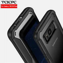 TCICPC For Samsung Galaxy S8 case Samsung S8 case S8 plus cover Acrylic transparent back cover case for Galaxy S8 S 8 plus