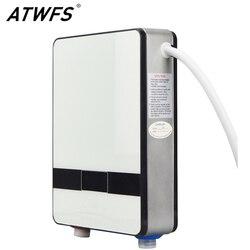 Atwfs aquecedor de água instantâneo 6500w aquecedor de indução termostato instantâneo chuveiro quente água elétrica tankless aquecedores de chuveiro