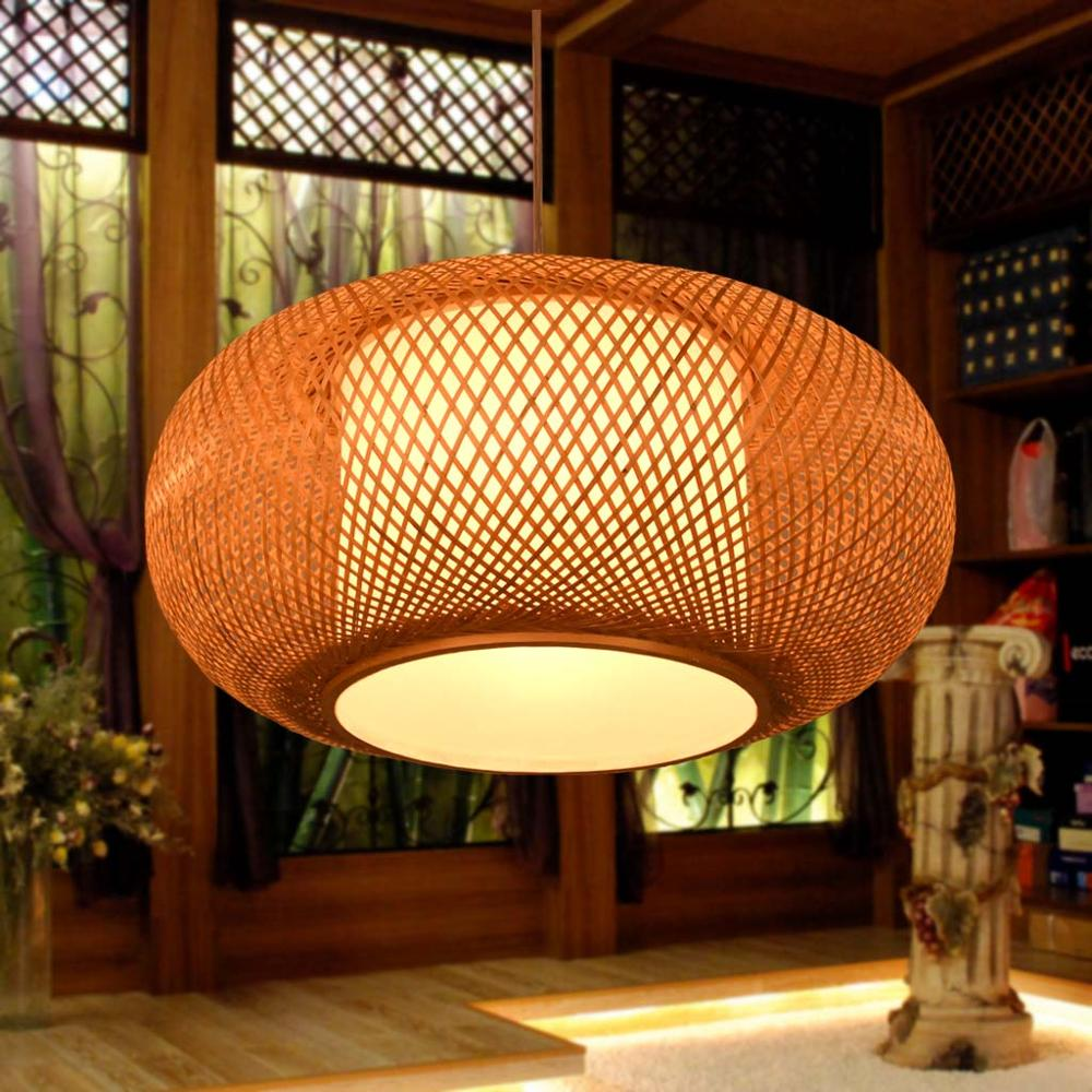 bambou chinois style antique salle à manger pendentif lumières