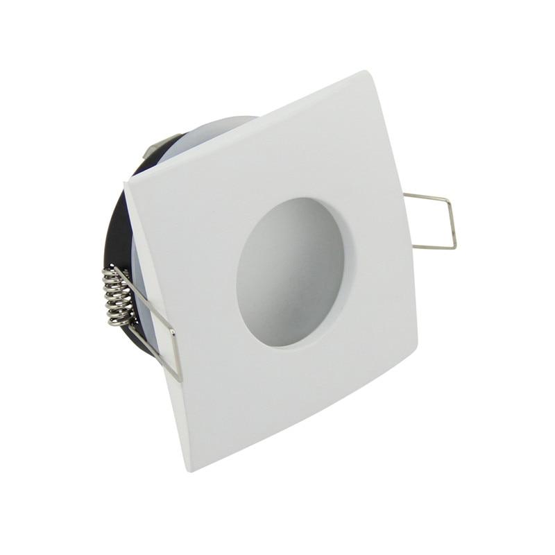 White Spot light Shower Recessed Kit Frame Bathroom IP65 Round Fitting Base Lamp