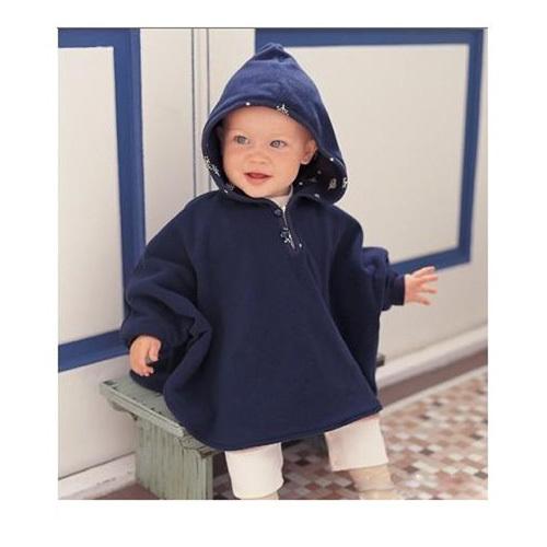 2016 Del Niño Del Bebé Recién Nacido Capa Linda Imprimió La Flor Abrigo Polar Bebé Otoño Invierno Lindo Con Capucha Bebé Capa Doble cara niños Outwear