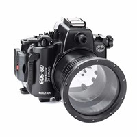 SeaFrogs 40M 130ft Diving Waterproof Housing Case For Canon 5D III IV 5D3 5D4 Supports 24