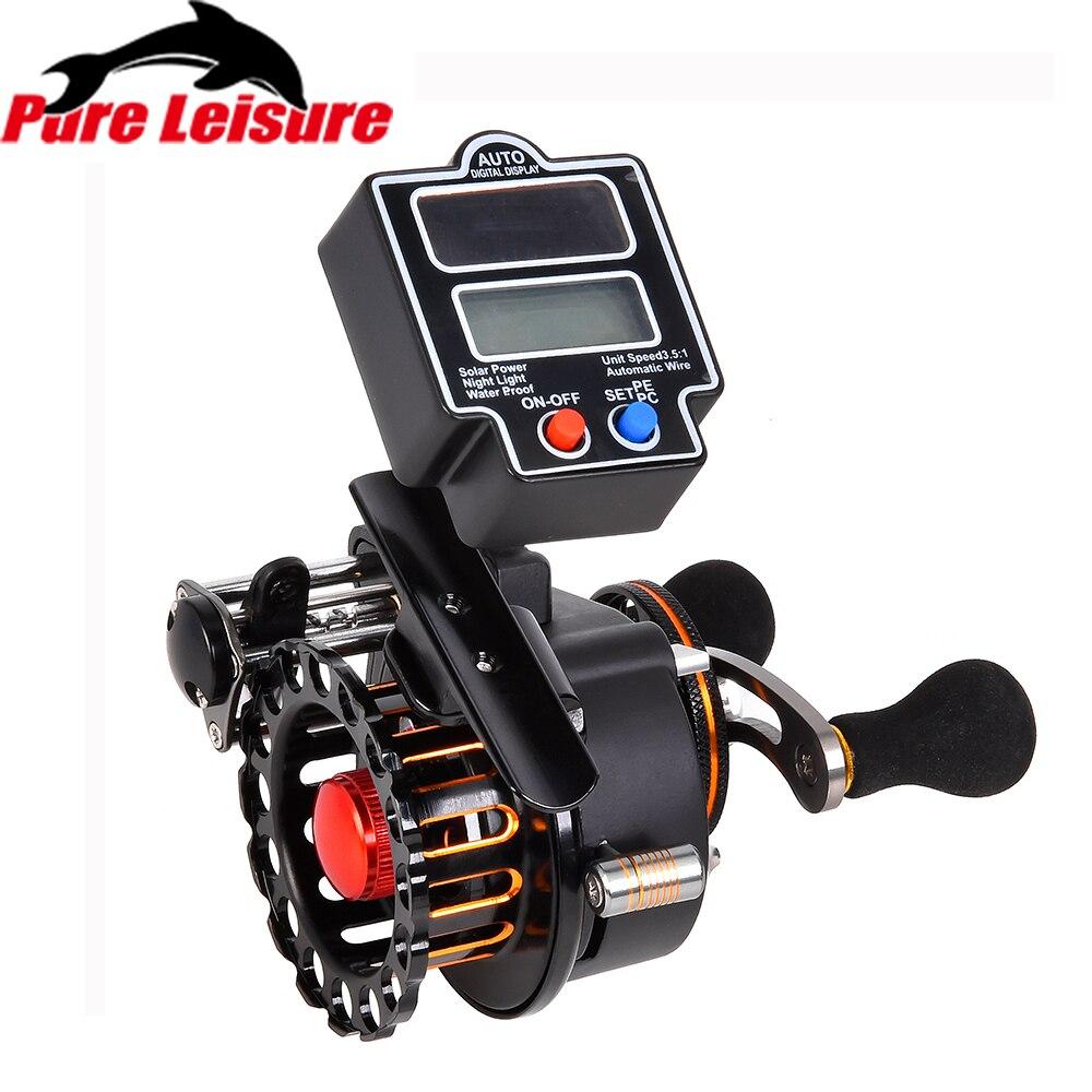 PureLeisure Raft Fishing Reel 4 1 BB 3 5 1 Gear Ratio Right Left with Digital