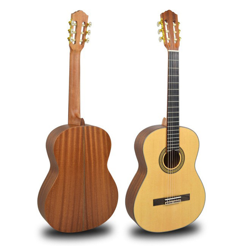 39 inch solid top spruce classical guitar nylon strings guitar free shipping acoustic musical instruments wholesale