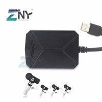 ZNY беспроводной шин давление мониторинга для Android автомобильный плеер Bluetooth/USB TPMS авто сигнализации системы с 4 Датчики