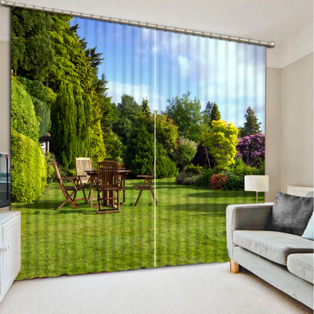 Landscape Scenery Beauty Digital Photo Printing Blackout 3D Curtains for Living Room Bedding Room Hotel Drapes Cortinas